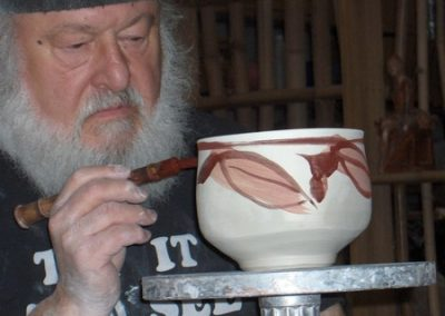 Robin Demonstrates Glaze Application